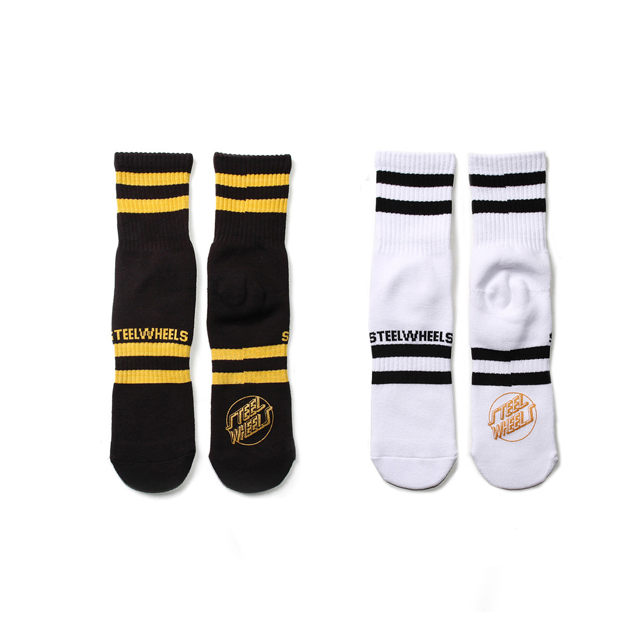 SKATE SOCKS-BLACK&WHITE 2SET