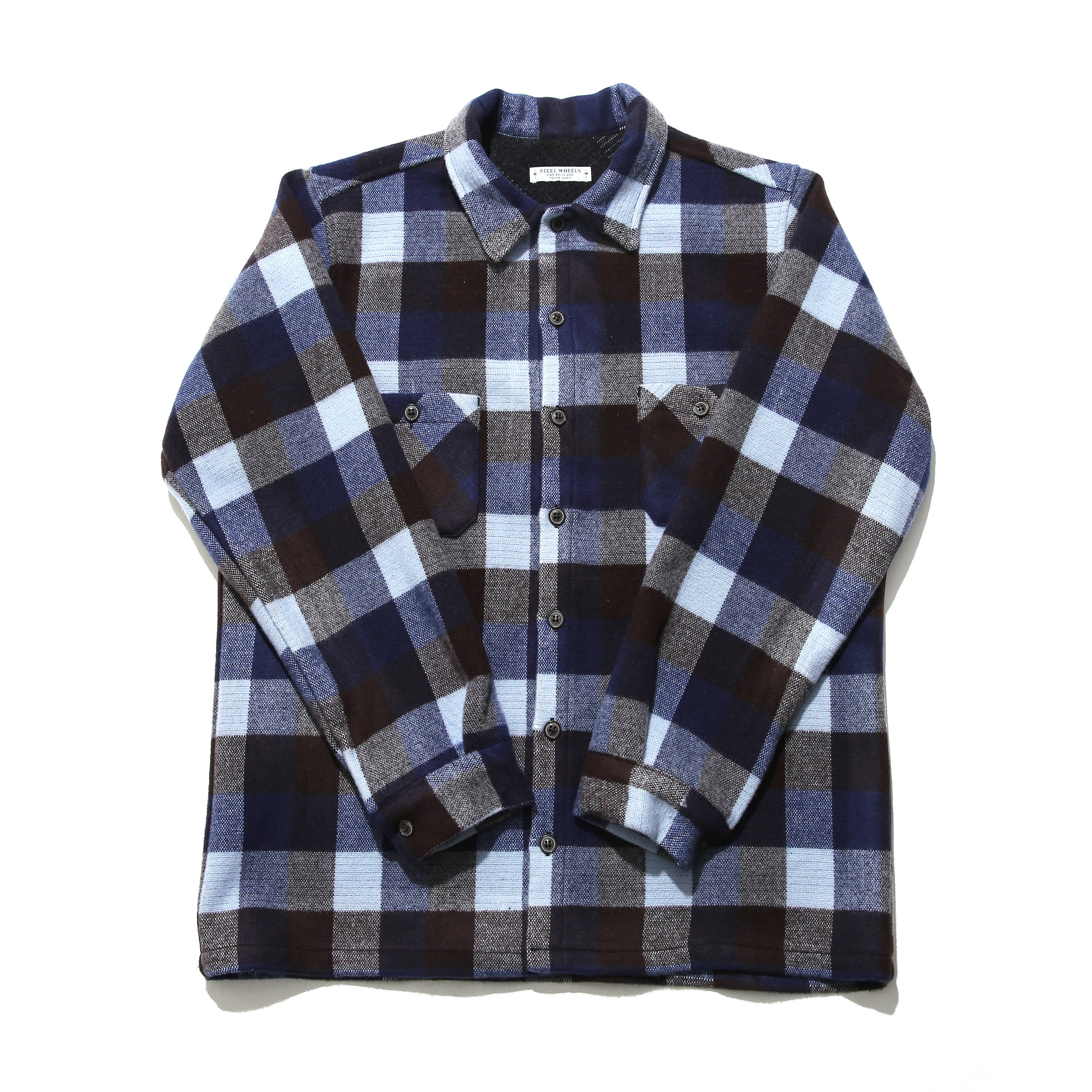 SOFT WOOL SHIRT-BLUE