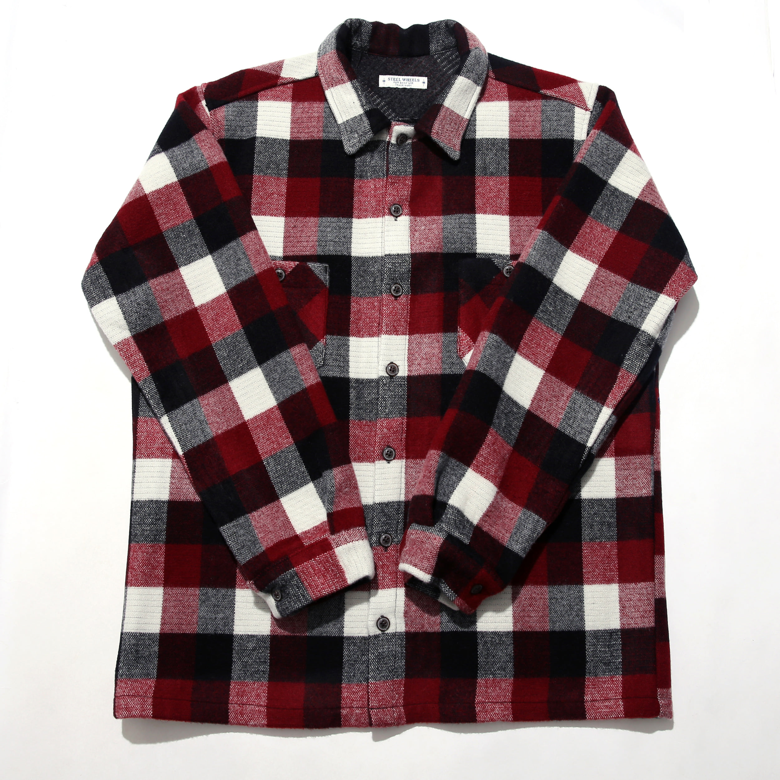 SOFT WOOL SHIRT-RED