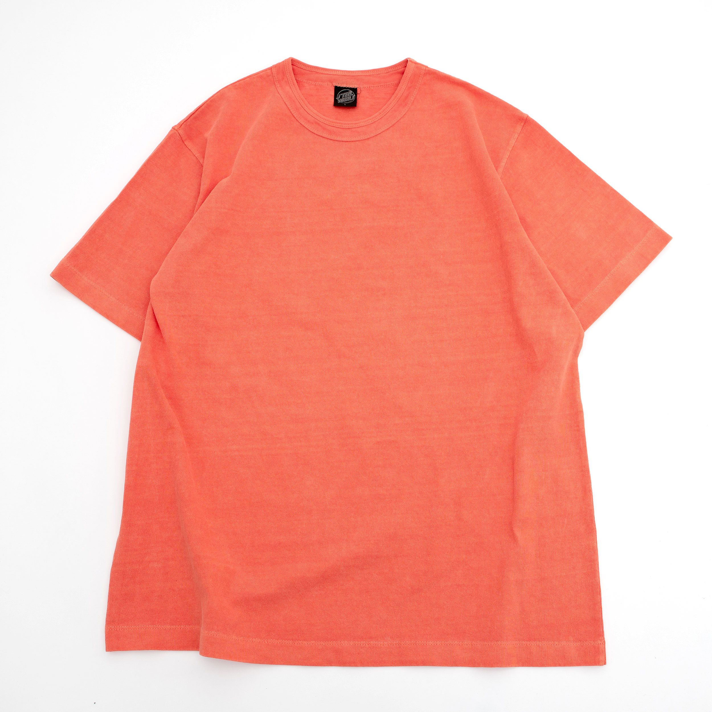 SUMMER DYED BASIC T SHIRT (ORANGE)