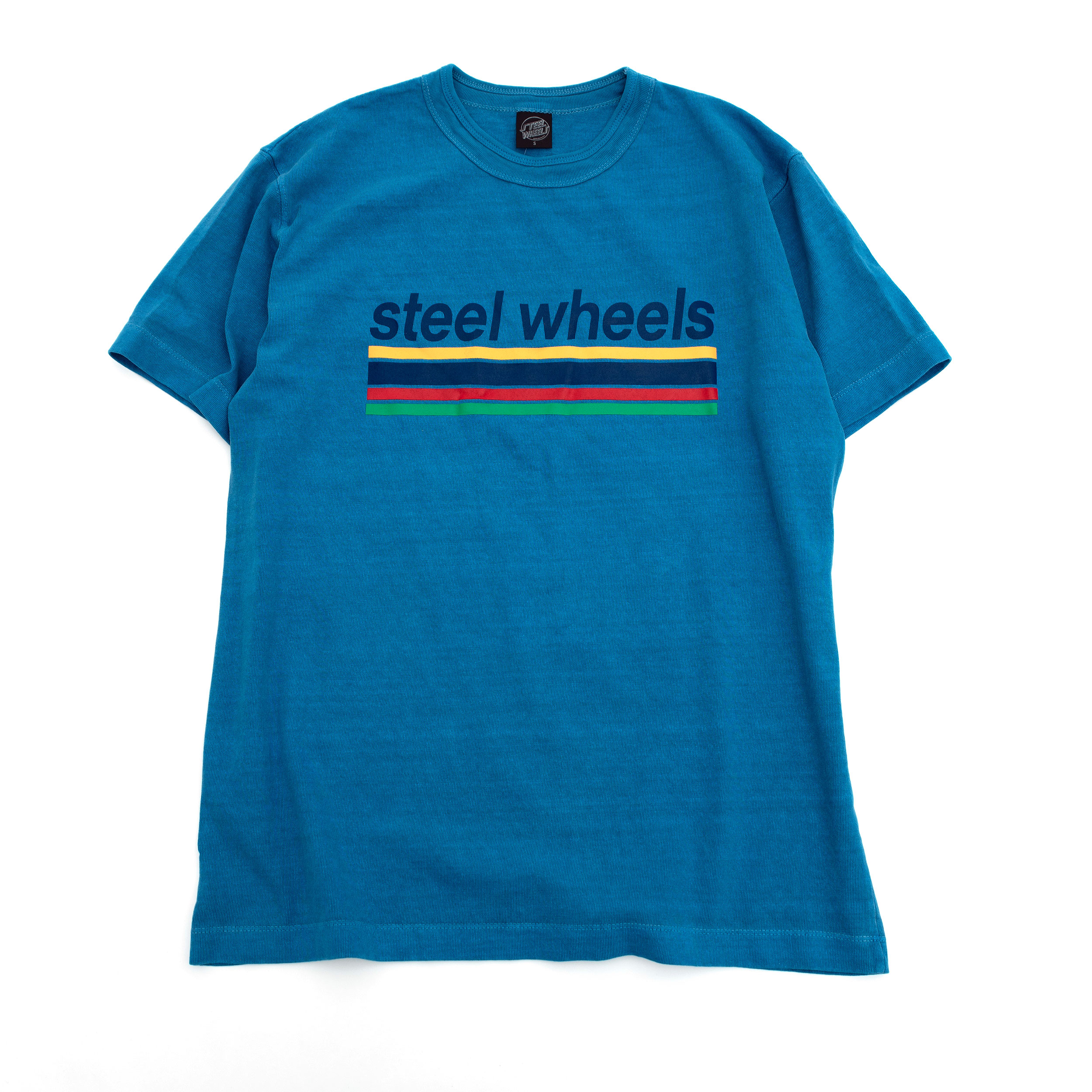 SUMMER DYED LOGO T SHIRT (BLUE)