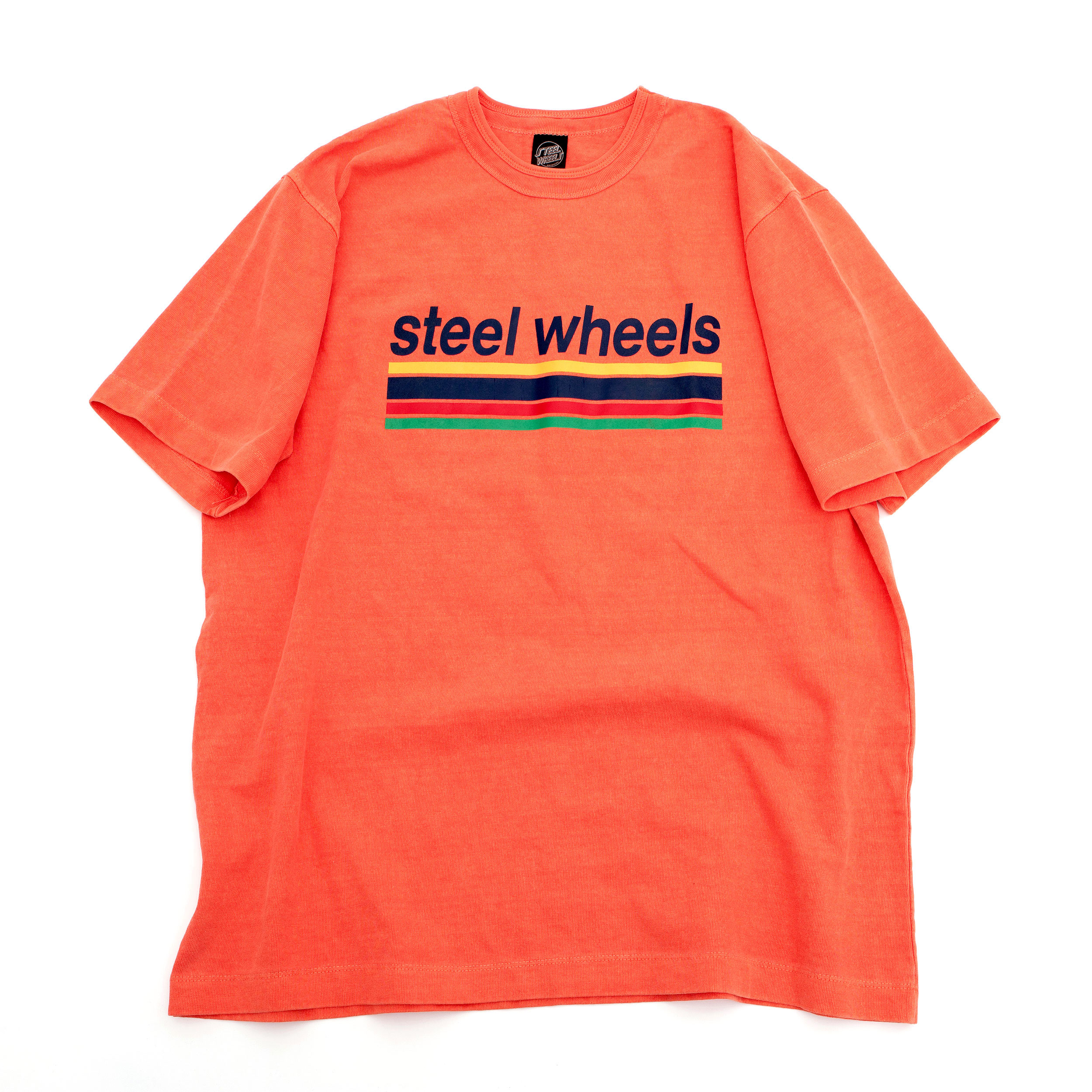 SUMMER DYED LOGO T SHIRT (ORANGE)