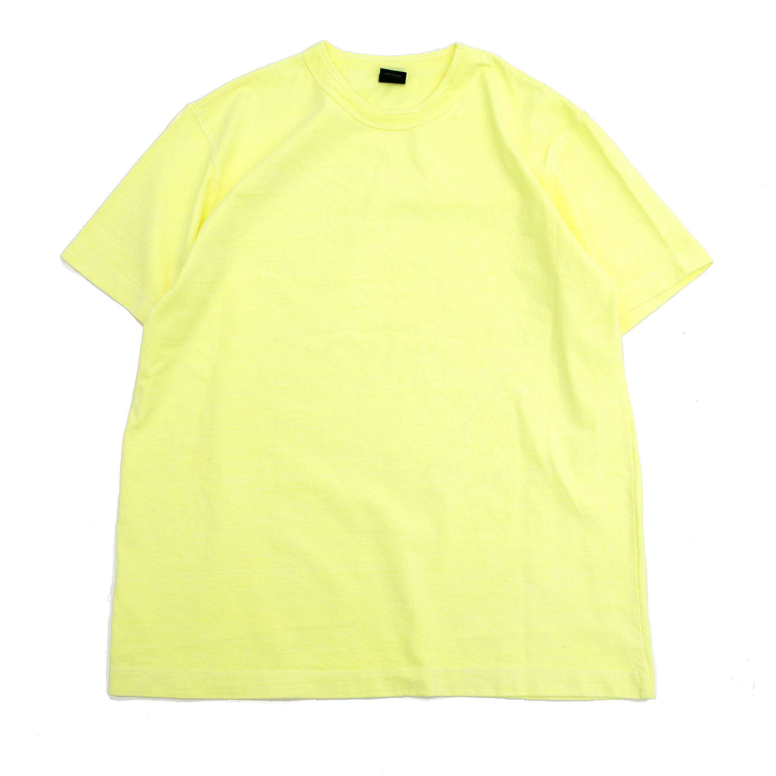SUMMER DYED BASIC T SHIRT (LIME)