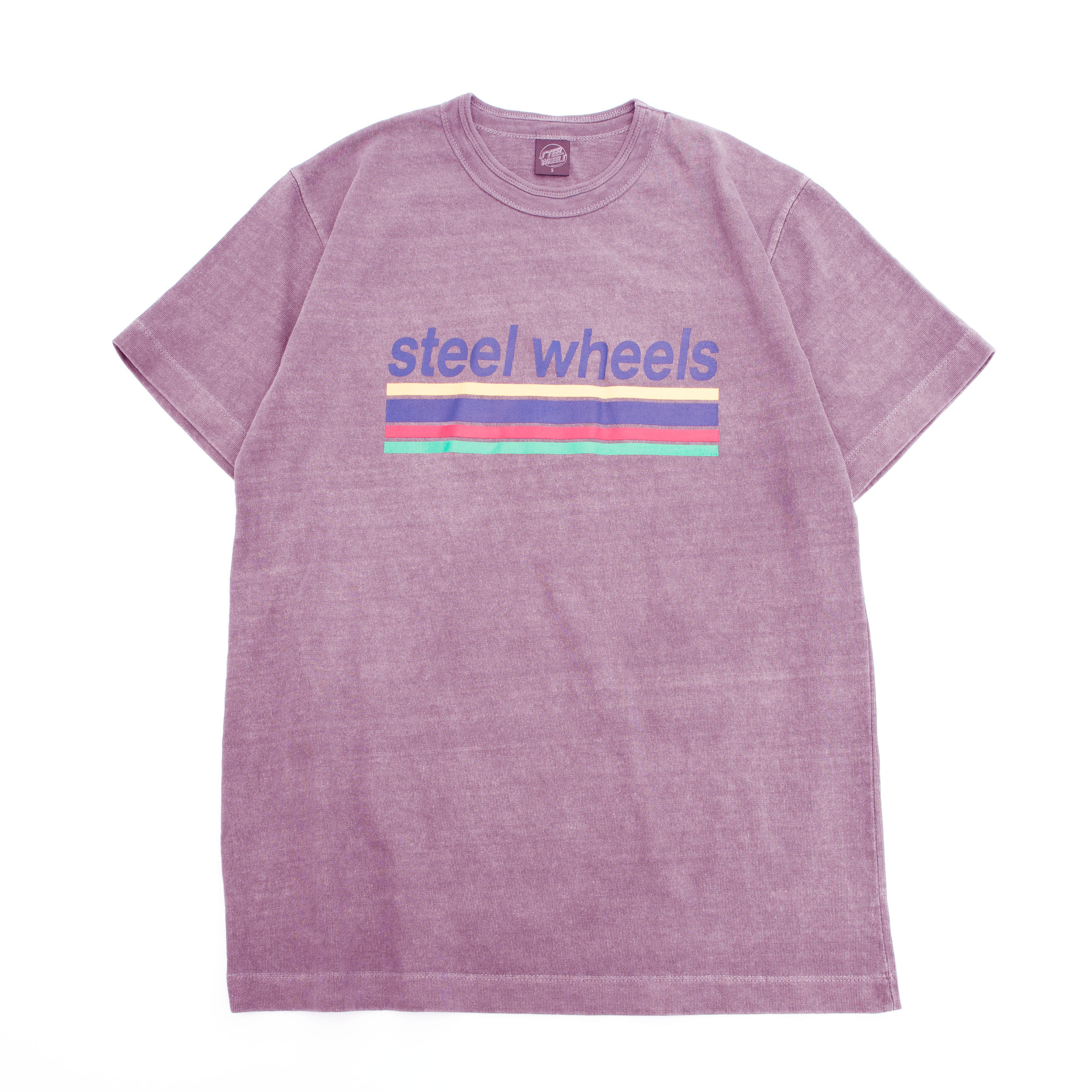 SUMMER DYED LOGO T SHIRT (PURPLE)